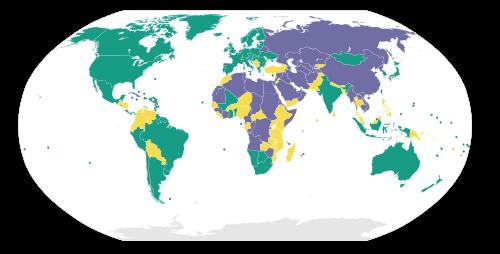 Verteilung der Freiheit in der Welt - 2009