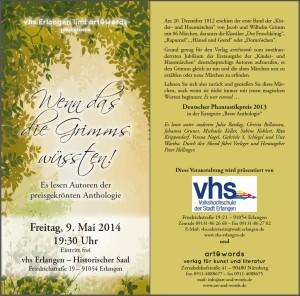 Flyer Lesung Grimms