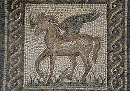 Mosaic_emblema_with_Pegasus,_the_immortal_winged_horse_which_sprang_forth_from_the_neck_of_Medusa_when_she_was_beheaded_by_the_hero_Perseus,_2nd_century_AD,_Archaeological_Museum_of_Cór